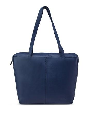 皮革購物肩背包 - 232942
