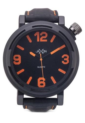 撞色矽膠潮流圓錶