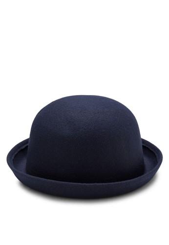 圓頂卷邊毛氈帽