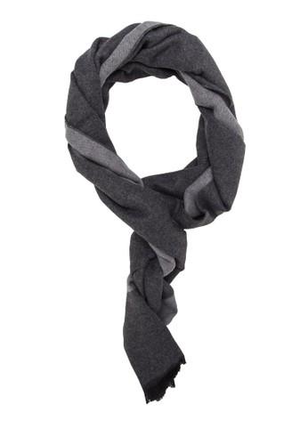 拼色流蘇針織圍巾