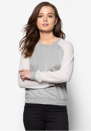 拉克蘭拼色長袖衫 - 240101
