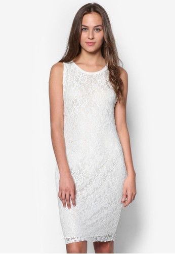 蕾絲無袖洋裝 - 266636