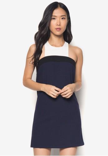 Cherlyn 撞色無袖連身裙 - 256850