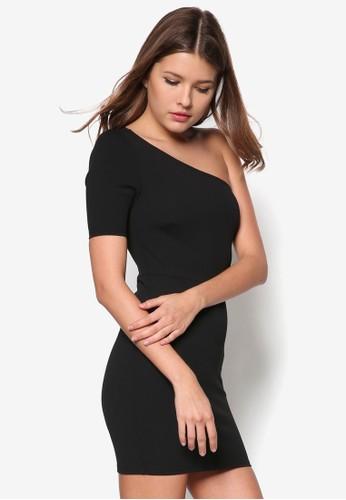Petite 單肩貼身連身裙 - 266406