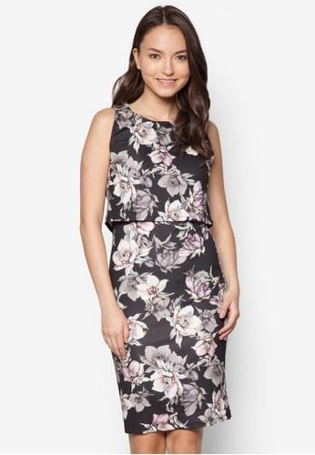Kyra 花卉層疊洋裝 - 265026