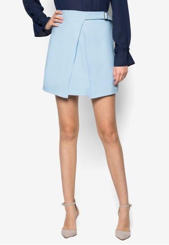 Gemma 素色裹式短裙 - 260234