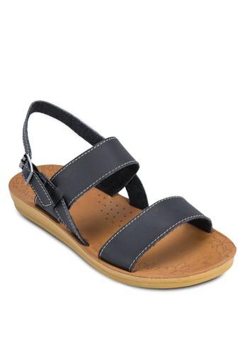 扣環踝帶厚底涼鞋
