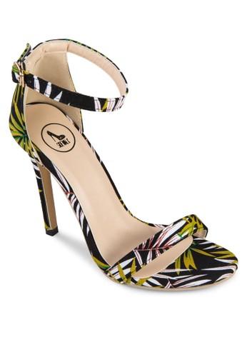 熱帶雨林繞踝高跟鞋