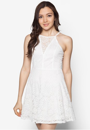 蕾絲鏤空小洋裝 - 223294