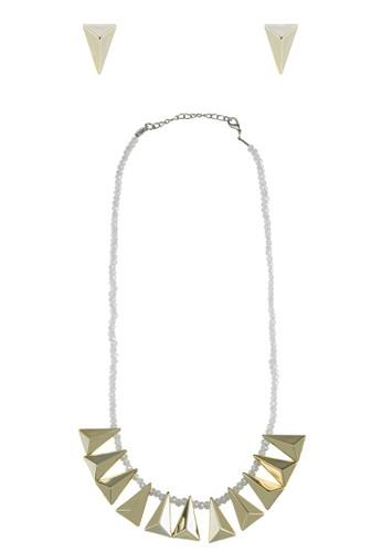三角的世界耳環項鍊套組