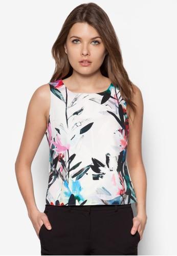 水彩花卉無袖上衣 - 250867