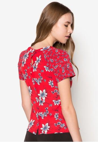 Int 花卉圖案短袖上衣 - 251725
