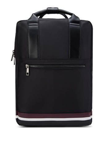 Striped Base Top-Handle Backpack - 236205