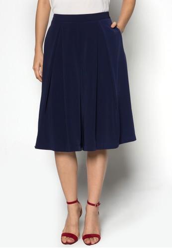褶飾及膝寬管褲 - 229119