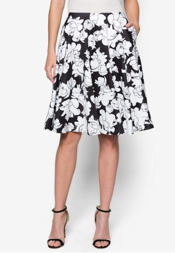 花卉圖案及膝短裙 - 225755