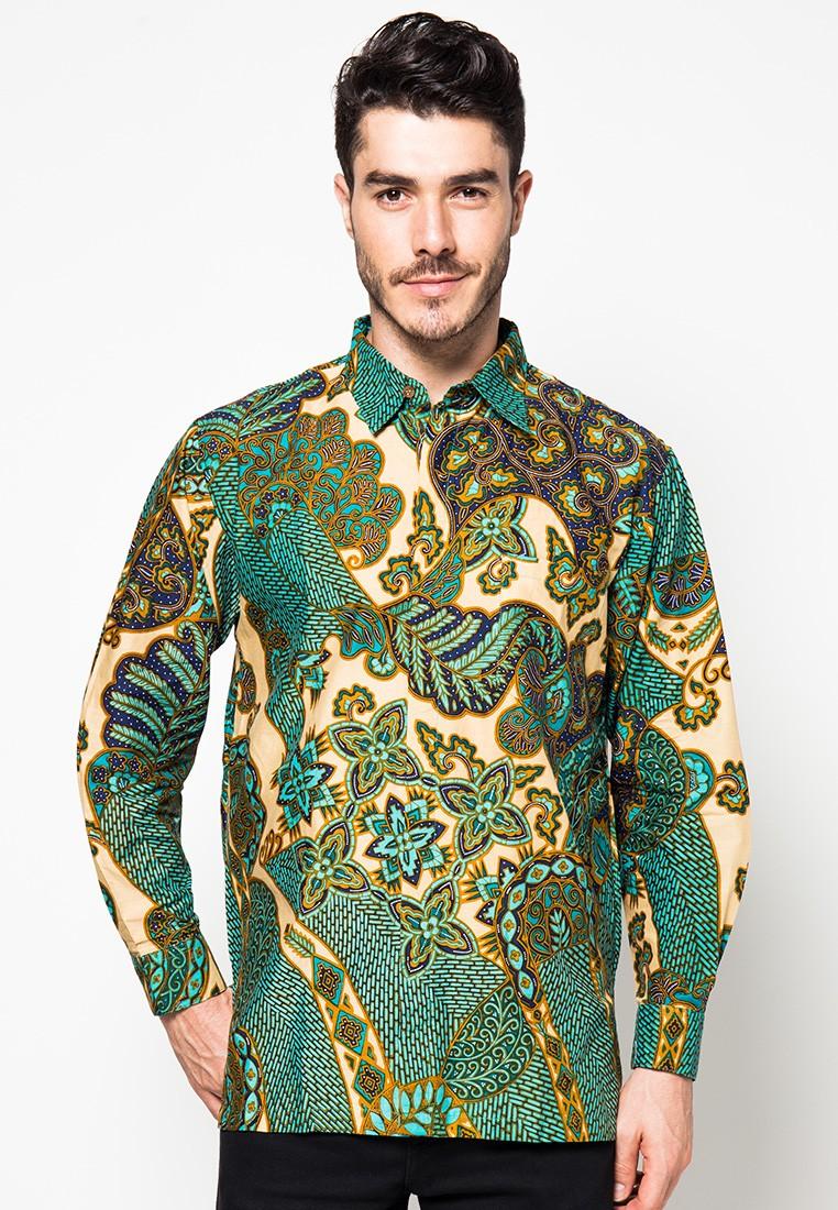 Kemeja Batik Motif Abstrak Kembang Blimbing By Danar Hadi