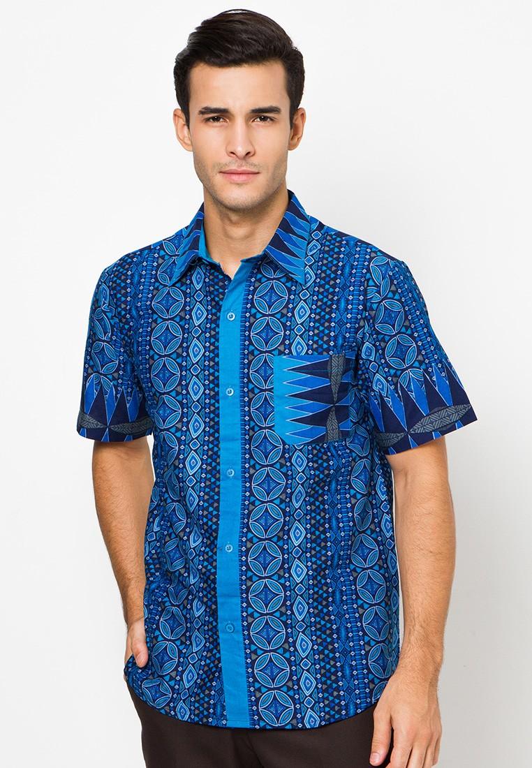 Kemeja Batik Biru By Danar Hadi Me0342 Klikplaza Online Shop