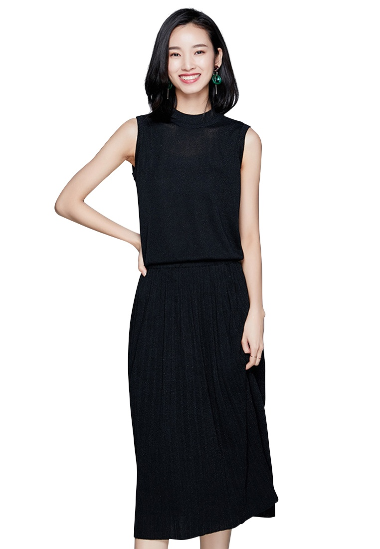 Suit Women S Dress Ca040904bk Vest Knitted Sunnydaysweety Black