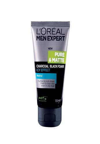 L'Oréal Paris L'Oreal Men Expert Pure & Matte Charcoal Black Foam Icy 100ml EEA73BE2DE51C9GS_1