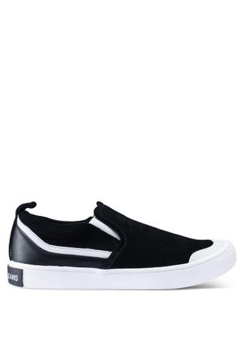 Calvin Klein black and multi Dacio Slip Ons 28007SH19D6F0CGS_1