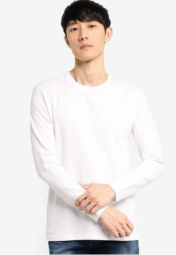 Calvin Klein white Calvin LS Tee - Calvin Klein Jeans 130E9AAE5CFB46GS_1
