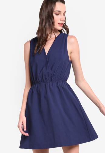 ZALORA navy Collection V-Neck Dress 3846AAA2638AB5GS_1