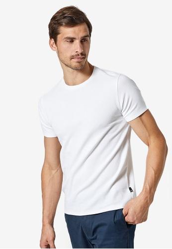 Burton Menswear London 白色 白色 Waffle 紋理T恤 856D0AA89588AAGS_1