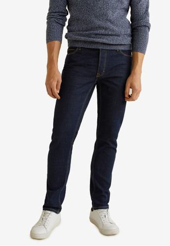 Mango Man 藍色 Slim-Fit Dark Vintage Wash Tim Jeans 004A9AA9285D61GS_1