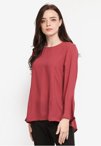BYN pink Muslimah Blouse 14357AAB8A2622GS_1