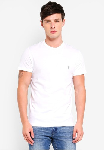 French Connection white Classic Crew T-Shirt DC8EFAA3123750GS_1