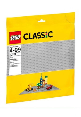 LEGO multi LEGO Classic 10701 Gray Baseplate (1 Pieces) 7AC91TH70CD7EFGS_1
