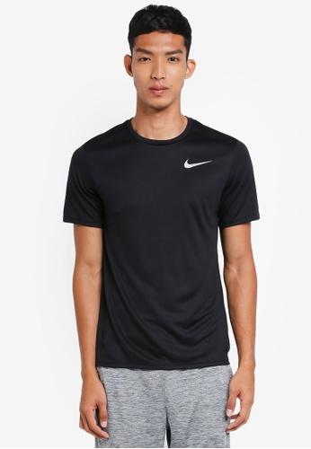 Nike black Men's Nike Short Sleeve Running Top 8739FAAE7D7FEAGS_1