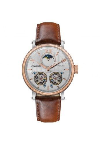 Ingersoll brown Ingersoll The Hollywood Automatic Rose Gold Stainless Steel I09602 Brown Leather Strap Men's Watch 79684ACBB99000GS_1