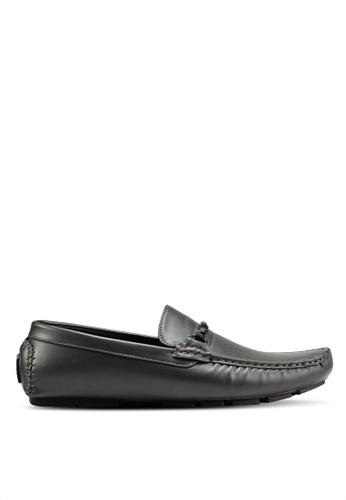 Rocklander black and grey Rocklander Perforated Loafers 77F03SHCE04582GS_1