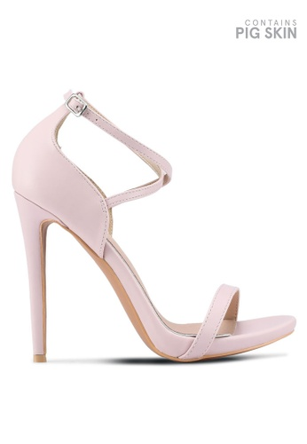 LOST INK pink Lucy X Strap Stiletto Sandals 62609SH728A050GS_1
