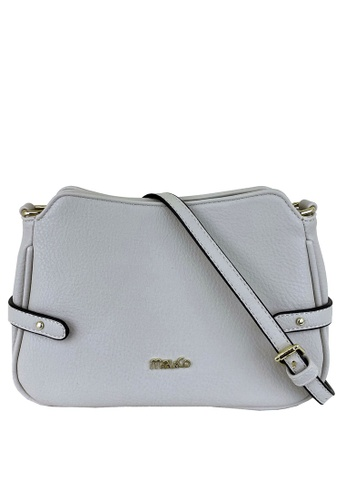 Mel&Co white Faux Leather Sling Bag 878C5AC40DF148GS_1