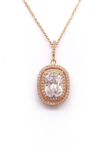 Her Jewellery gold Aleka Pendant (Rose Gold) HE210AC0FM1USG_1