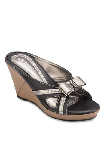 蝴蝶結楔型跟涼鞋, 女鞋,esprit 品牌 鞋