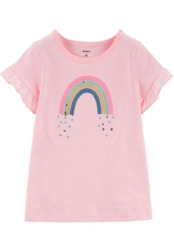 Carter's pink CARTER'S Girl Pink Rainbow Tee 90B52KAF5F5B72GS_1