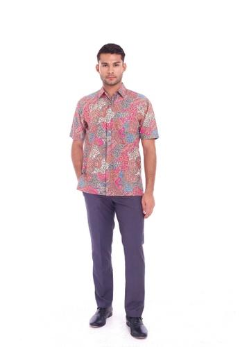 TUSCA pink Eusoff Classic Batik Shirt E1D65AAC5C130EGS_1