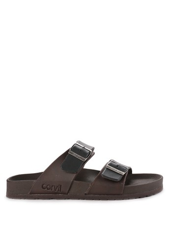 CARVIL black Sandal Footbed Men Houston-02M D9953SH2F1A511GS_1