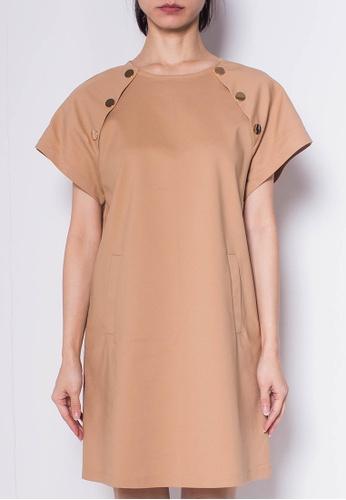 SUB Women Raglan Sleeve Keyhole Back Dress 2D638AAB192F1BGS_1
