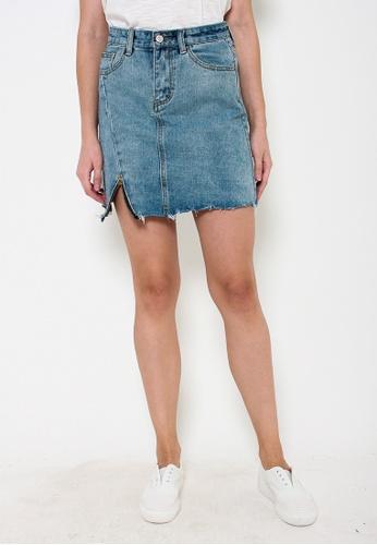 Leline Style blue Lauren Denim Skirt BFD7FAA460F6CCGS_1