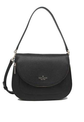 Kate Spade black Kate Spade Leila Medium Flap Shoulder Bag WKR00330 Black 038D9AC7B62A47GS_1