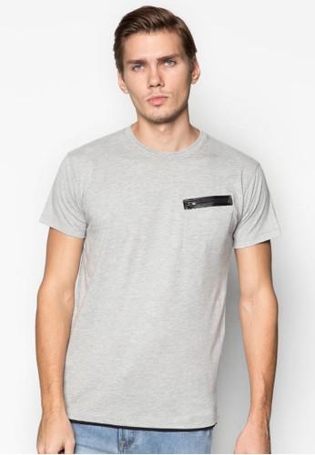 拉鍊口袋TEE, 服esprit門市飾, T恤