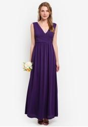 ZALORA purple Bridesmaid Cross Front Maxi Dress E3697AA3B70A04GS_1
