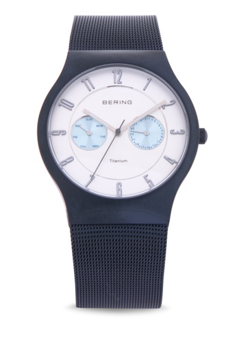 Bering blue Classic Watch with Mesh Strap 57919AC5CDAAFDGS_1