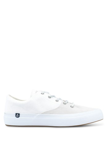 Sperry white Haven Lace Up Chambray Sneakers SP132SH0SXB5MY_1