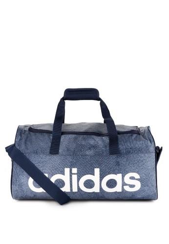 adidas multi and navy adidas linear performance duffel bag small 441EFAC8E55EC7GS_1