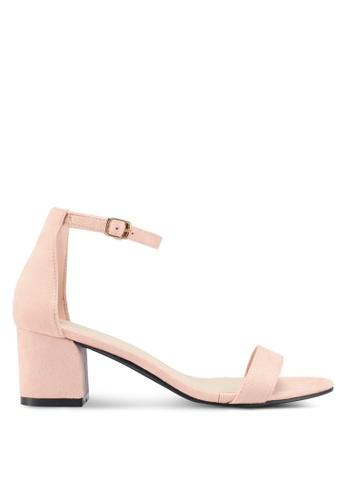 Bata 米褐色 一字帶繞踝粗跟鞋 7D31FSHC50AD2CGS_1